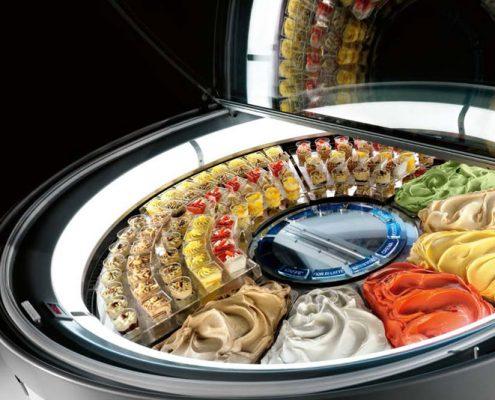vetrina gelato tonda hi-tech